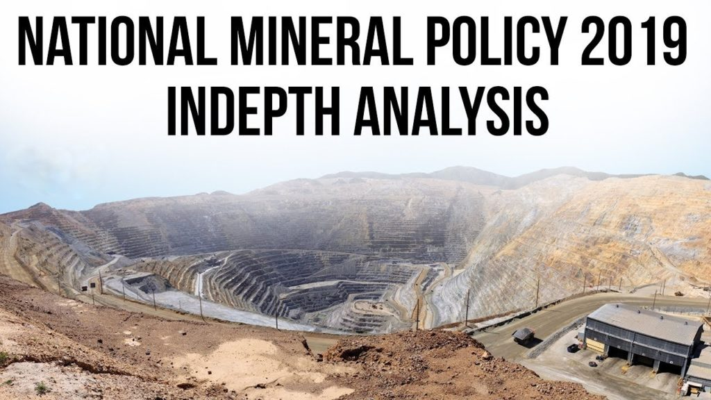 National Mineral Policy 2019 upsc ias essay analysis