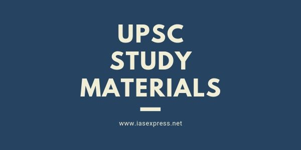 Study Materials for UPSC Preparation